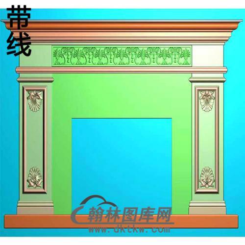 欧式壁炉精雕图(BL-014)