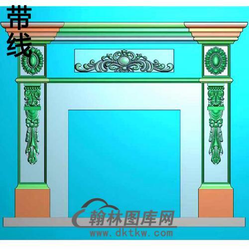 欧式壁炉精雕图(BL-016)