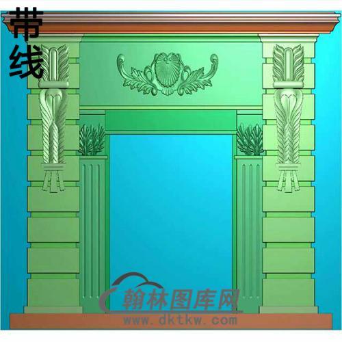 欧式壁炉精雕图(BL-018)