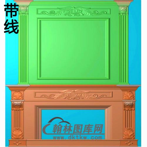 欧式壁炉精雕图(BL-025)