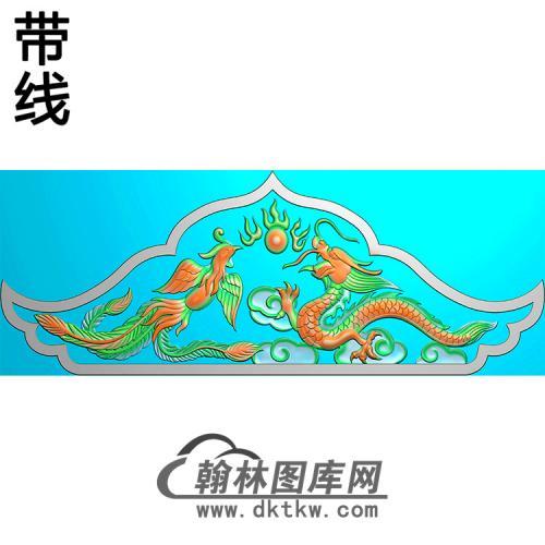 龙凤碑头精雕图(MBBT-0222)