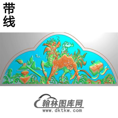 麒麟碑头精雕图(MBBT-0225)