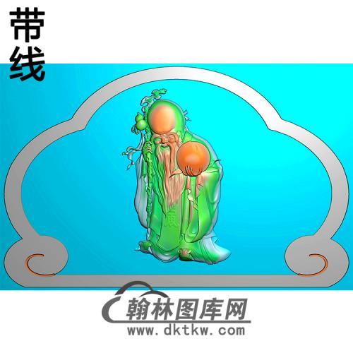 寿星碑头精雕图(MBBT-0227)
