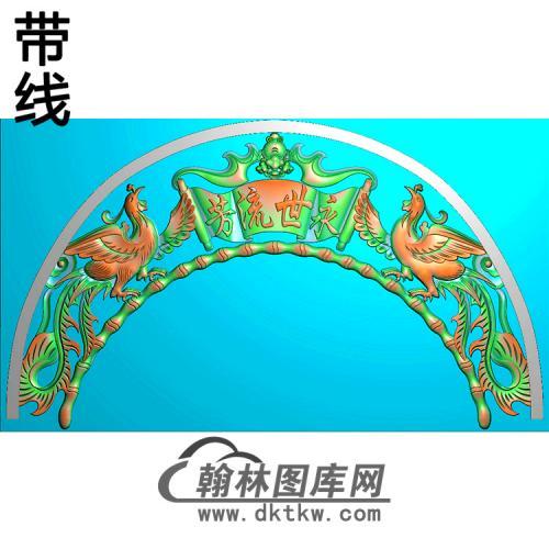 双凤碑头精雕图(MBBT-0237)
