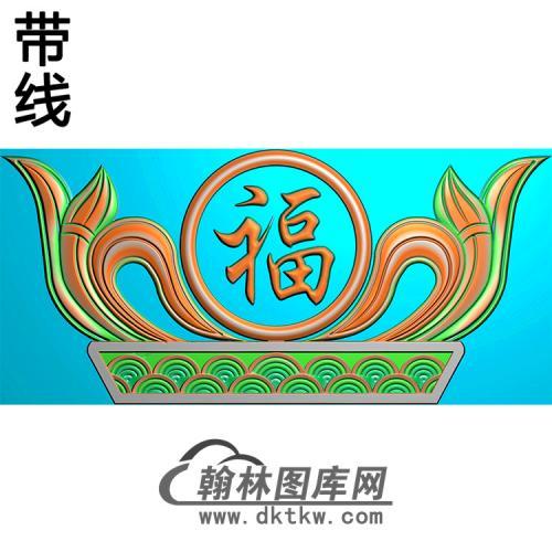 福寿碑头精雕图(MBBT-0265)