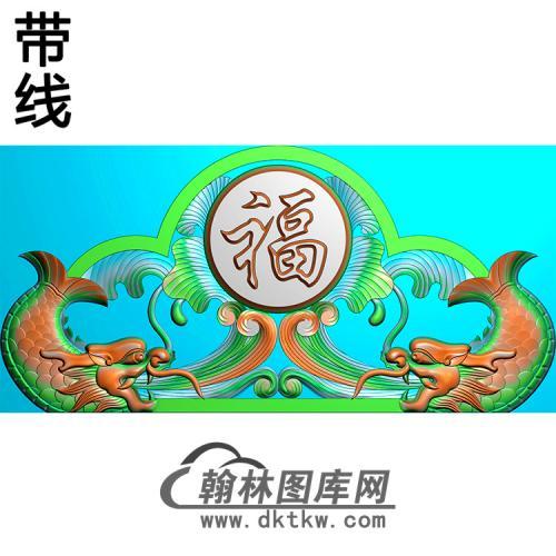 鳌鱼碑头精雕图(MBBT-0282)