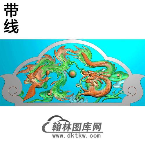 龙凤碑头精雕图(MBBT-0290)