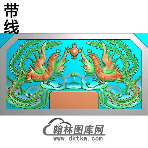 双凤碑头精雕图(MBBT-0306)