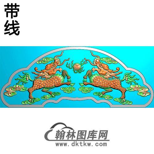 麒麟碑头精雕图(MBBT-0332)