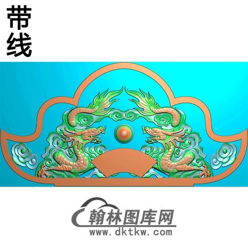 双龙碑头精雕图(MBBT-0365)