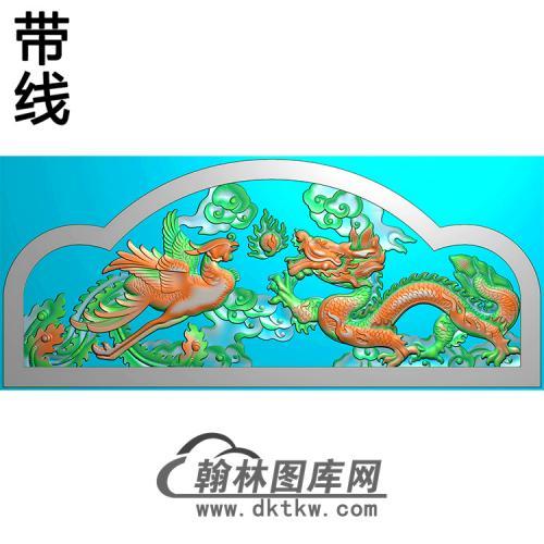 龙凤碑头精雕图(MBBT-0367)