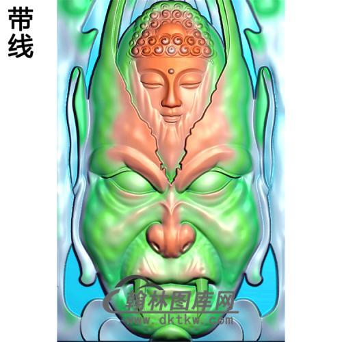 神兽佛头半身佛像精雕图(SFX-117)