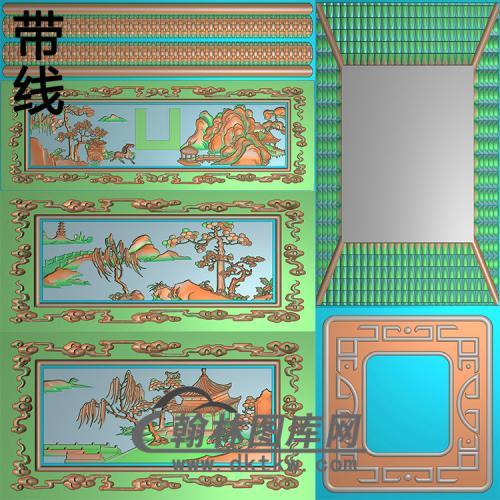 平安山水骨灰盒精雕图(GHH-095)