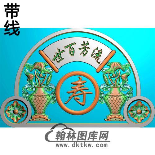 花瓶碑头精雕图(MBBT-0385)