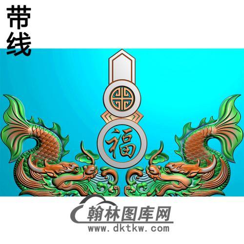 鳌鱼碑头精雕图(MBBT-0392)