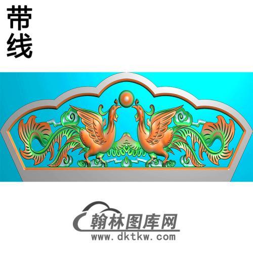 双凤碑头精雕图(MBBT-0396)