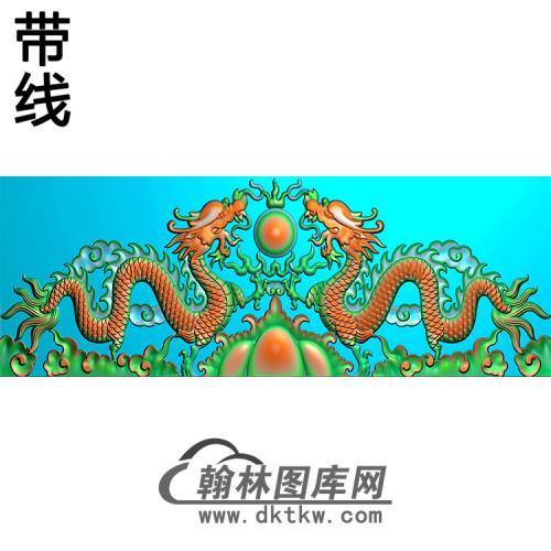 双龙碑头精雕图(MBBT-0397)