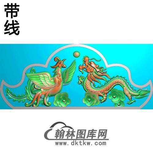 龙凤碑头精雕图(MBBT-0429)
