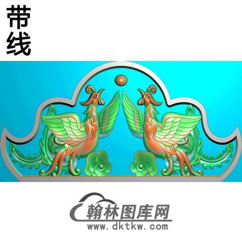 双凤碑头精雕图(MBBT-0430)