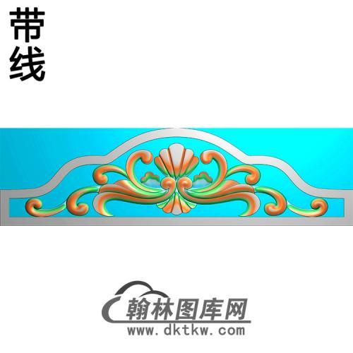 洋花碑头精雕图(MBBT-0436)