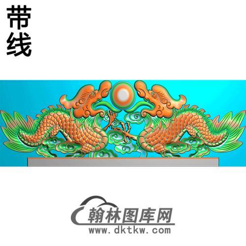 双龙碑头精雕图(MBBT-0437)