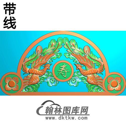 双凤碑头精雕图(MBBT-0443)