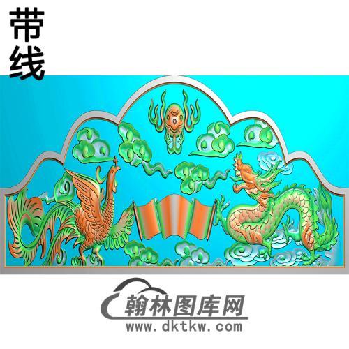 龙凤碑头精雕图(MBBT-0477)