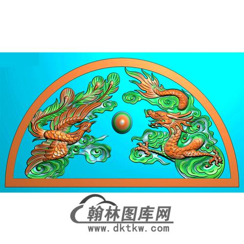 龙凤碑头精雕图(MBBT-0498)