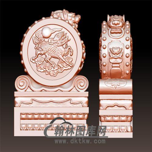 石雕抱鼓石雕门墩圆雕图(YBG-043)