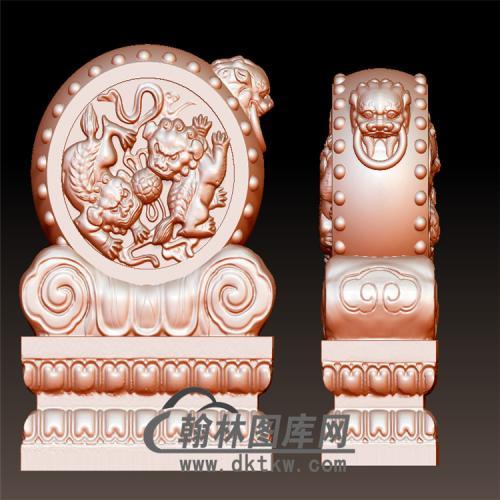 石雕抱鼓石雕门墩圆雕图(YBG-044)