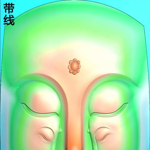 佛头侧脸佛半身佛像精雕图(SFX-184)