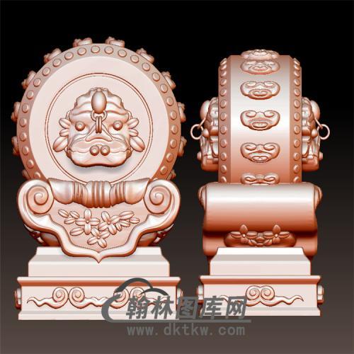 石雕抱鼓石雕门墩圆雕图(YBG-047)