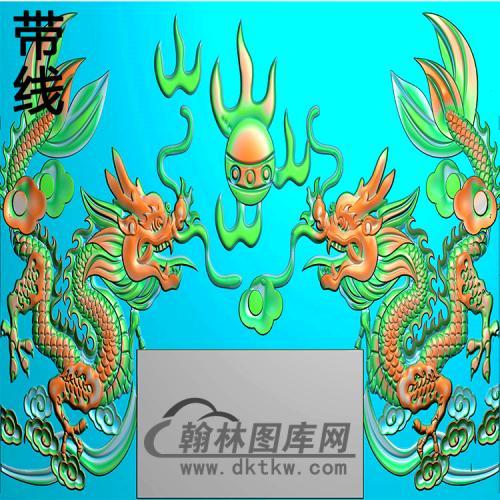 双龙碑头精雕图(MBBT-0522)