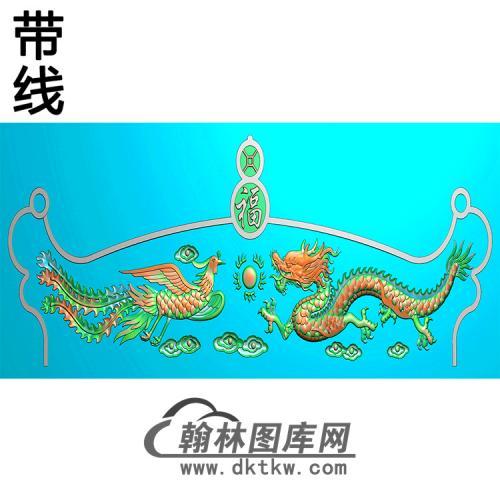龙凤碑头精雕图(MBBT-0549)