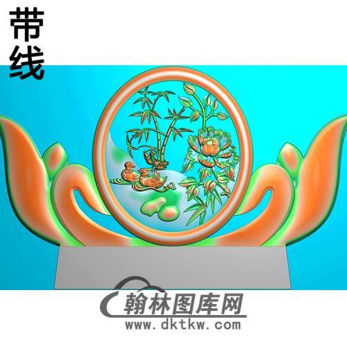 鸳鸯碑头精雕图(MBBT-0559)