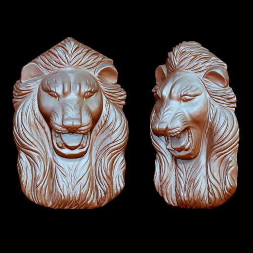 狮子头立体圆雕图(YSX-016)
