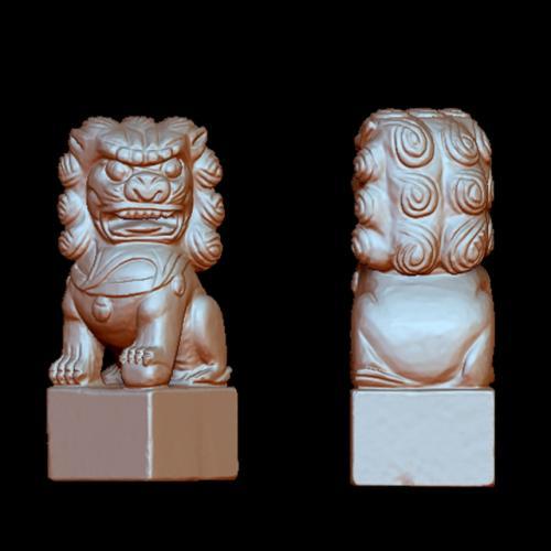 狮子立体圆雕图(YSX-035)
