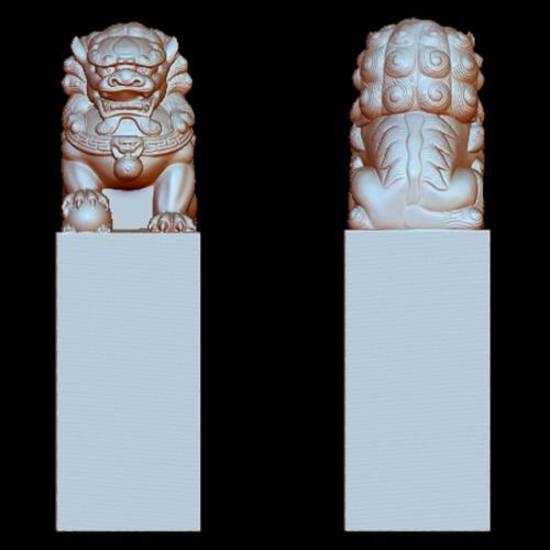 狮子立体圆雕图(YSX-039)