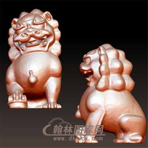 小狮子立体圆雕图(YSX-062)