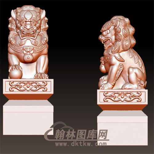 精品公狮子立体圆雕图(YSX-063)