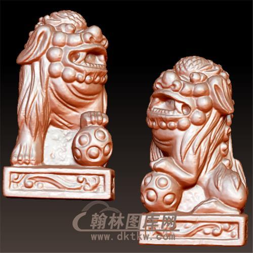 立体狮子圆雕图(YSX-066)