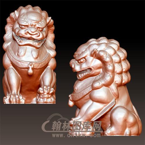 狮子立体圆雕图(YSX-070)