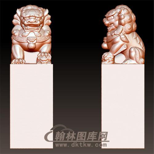 狮子立体圆雕图(YSX-073)
