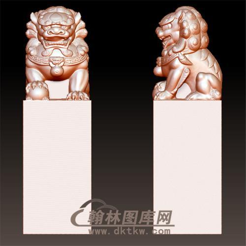 狮子立体圆雕图(YSX-074)