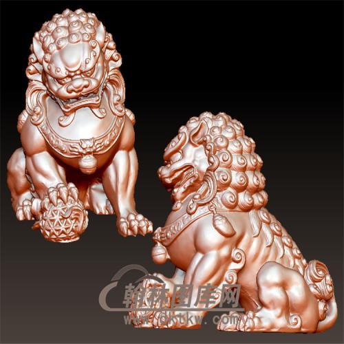 狮子立体圆雕图(YSX-075)