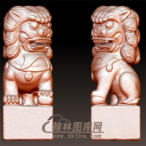 狮子立体圆雕图(YSX-076)