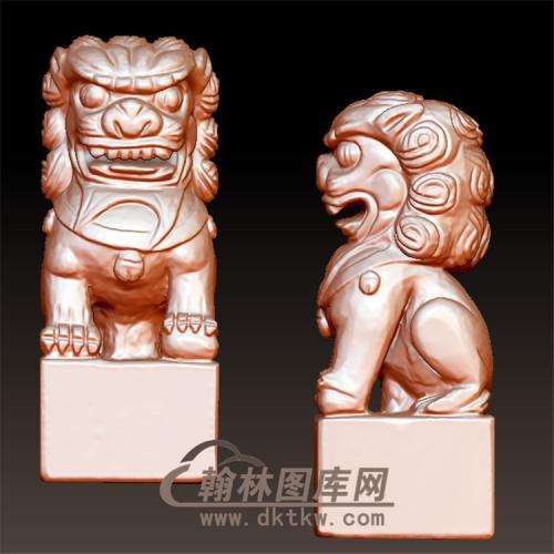 狮子立体圆雕图(YSX-077)