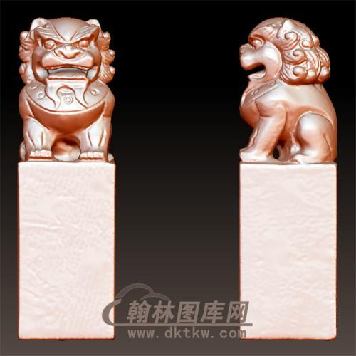 狮子立体圆雕图(YSX-078)