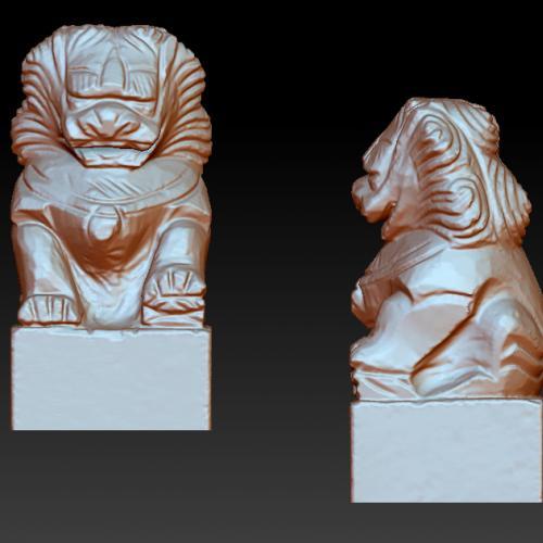 狮子立体圆雕图(YSX-079)