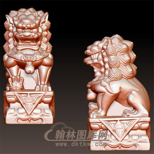狮子立体圆雕图(YSX-081)